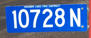 Address sign available through the HLFD