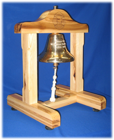 This beautiful cast bronze bell serves as an ongoing symbol of the District's commitment to voluntary community service.