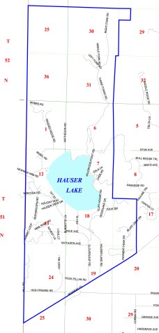 Hauser Lake Fire District map
