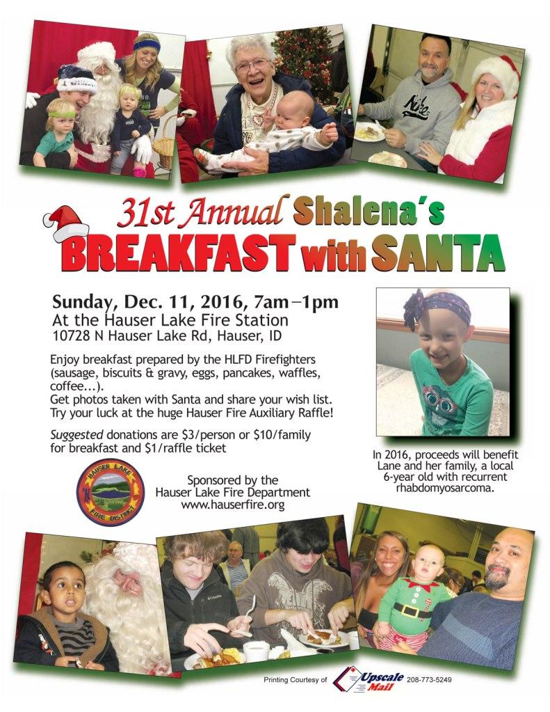 Breakfast with Santa 2016 Lane