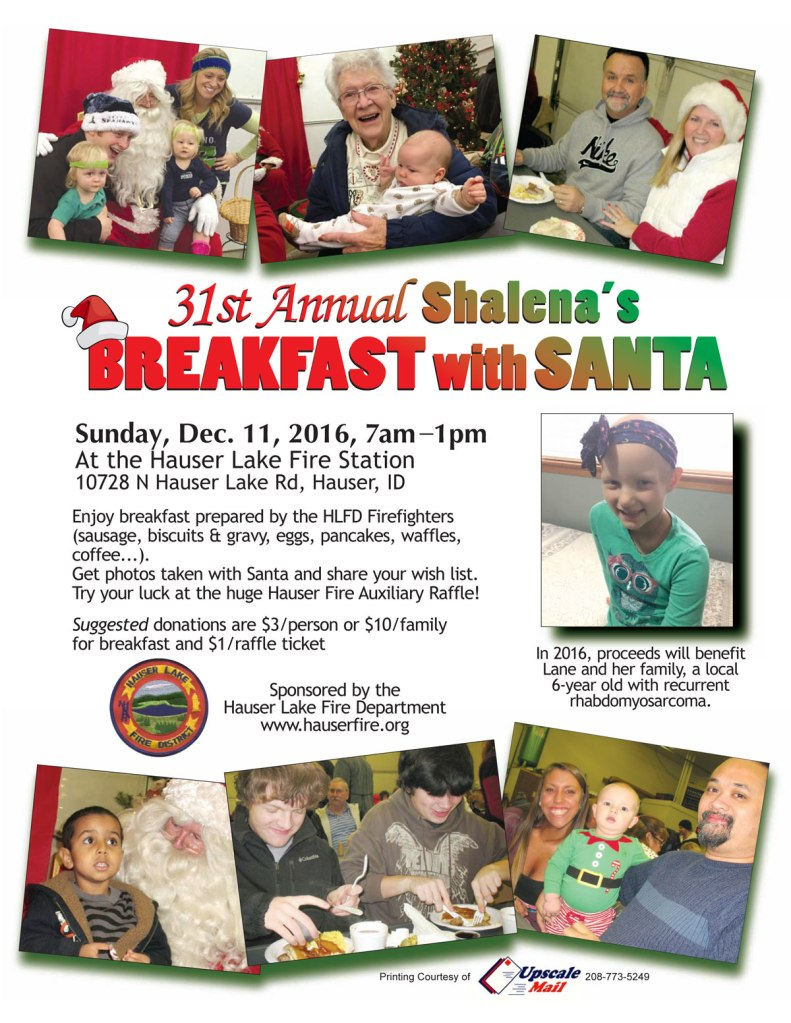 Breakfast with Santa 2016 Lane