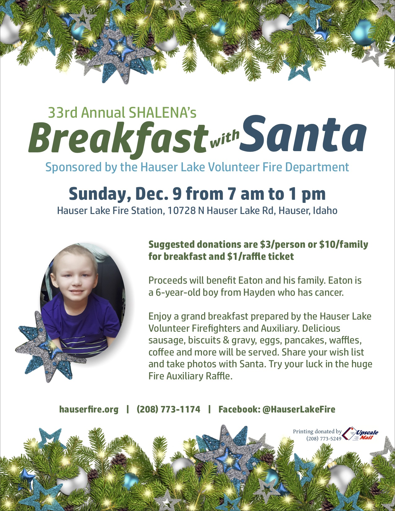 Breakfast with Santa 2018 Eaton