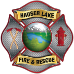 Hauser Lake Fire & Rescue Logo